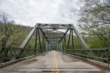 Kentucky Roads. Old truss bridge in the Red River Gorge Area of the Daniel Boone National Forest in rural Kentucky.