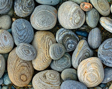 Overhead View Of Rocks On A Beach, Canada