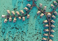 Aerial View Of Overwater Bunga...