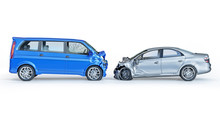 Two Cars Crashed In Accident. ...