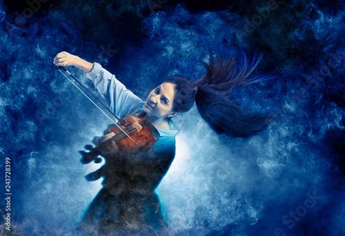 Fotografie, Obraz  Woman playing violin