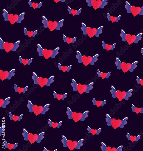 Keuken foto achterwand Vlinders in Grunge happy valentines day