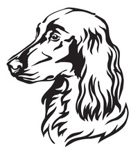 Decorative Portrait Of Dog Irish Setter Vector Illustration