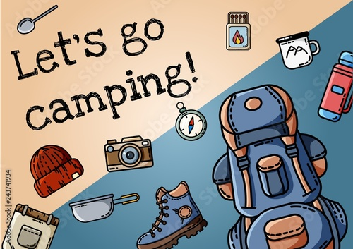 Photo Let's go camping poster