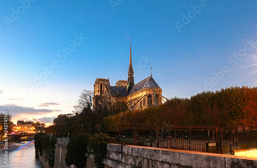 The famous Catholic Notre Dame Cathedral , Paris, France. Canvas Print