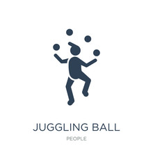 Juggling Ball Icon Vector On W...