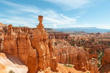View of hoodoos including Thor's Hammer from Navajo Loop in Bryce Canyon National Park, Utah