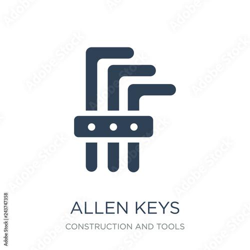 allen keys icon vector on white background, allen keys trendy fi Wallpaper Mural