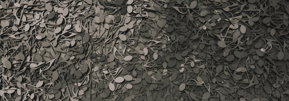 Fototapeta Infinite musical notes, music conceptual background image, banner size