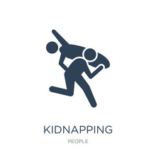 Kidnapping Icon Vector On Whit...