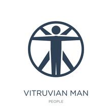 Vitruvian Man Icon Vector On White Background, Vitruvian Man Tre