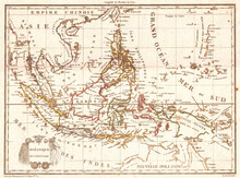 Old Map Of The East Indies, Si...
