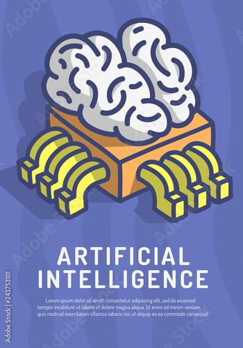 Artificial Intelligence Themed Design Hand Drawn Cartoon Funny