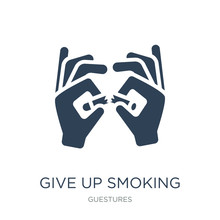 Give Up Smoking Icon Vector On White Background, Give Up Smoking