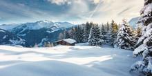 Winterlandschaft Panorama Mit ...