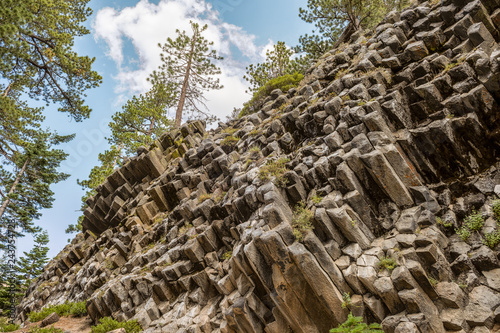 Hexagon basaltic columns of Devils Postpile National Monument in Inyo National F Canvas Print
