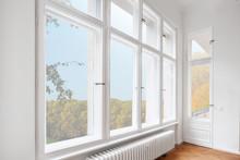 Big Wooden Windows In Apartmen...