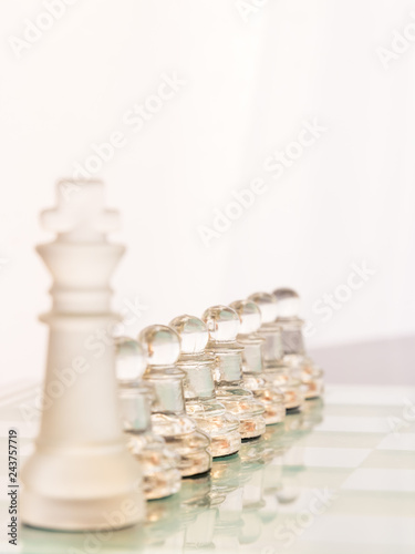 Fotografie, Obraz  The king allows the pawns to take the lead.