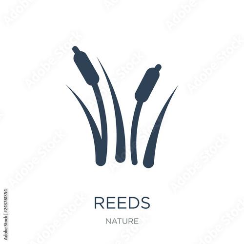 Obraz na plátně reeds icon vector on white background, reeds trendy filled icons