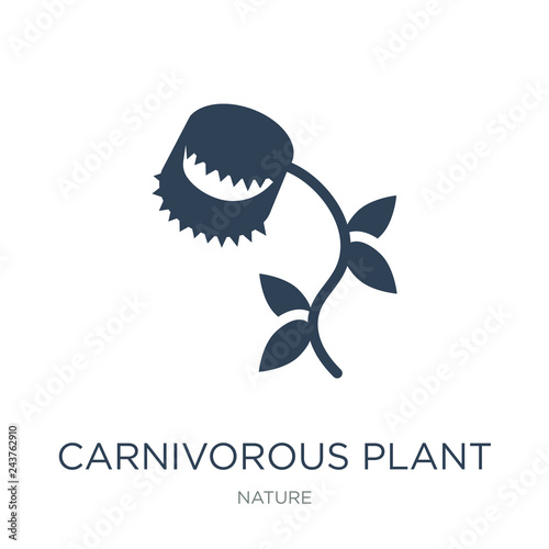 Fotografia carnivorous plant icon vector on white background, carnivorous p