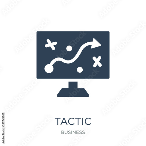 Fotografía  tactic icon vector on white background, tactic trendy filled ico