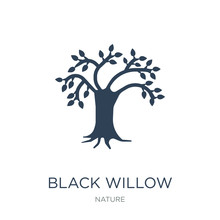 Black Willow Icon Vector On White Background, Black Willow Trend