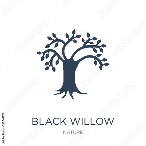 Obraz na płótnie black willow icon vector on white background, black willow trend
