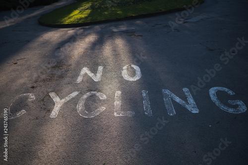 In de dag Route 66 No Cycling