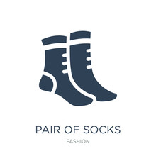 Pair Of Socks Icon Vector On White Background, Pair Of Socks Tre