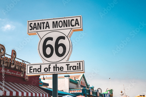 In de dag Route 66 Los Angeles, USA. January 15, 2019.