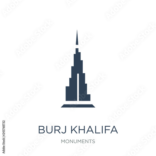 Photo burj khalifa icon vector on white background, burj khalifa trend
