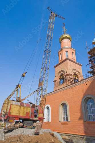 Russian Christian Church. Orthodox Religion Tapéta, Fotótapéta