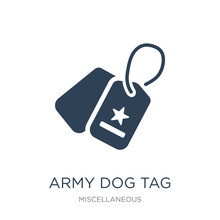 Army Dog Tag Icon Vector On White Background, Army Dog Tag Trend