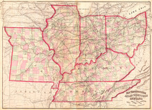 1873, Asher Adams Map Of The M...