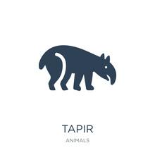 Tapir Icon Vector On White Background, Tapir Trendy Filled Icons