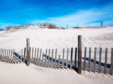 Sand Dune & Wooden Fence