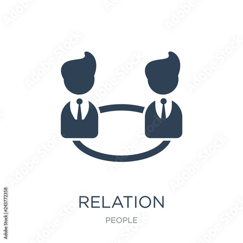 Fotografie, Tablou  relation icon vector on white background, relation trendy filled icons from Peop