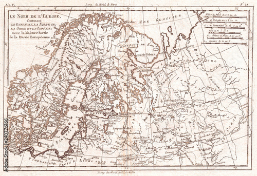 Map Of Europe 1780.1780 Raynal And Bonne Map Of Northern Europe And European Russia