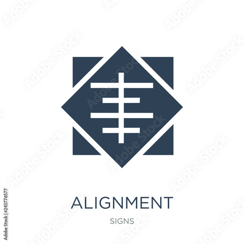 Photo alignment icon vector on white background, alignment trendy filled icons from Si