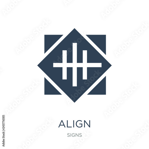Fotografía  align icon vector on white background, align trendy filled icons from Signs coll