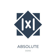 Absolute Icon Vector On White Background, Absolute Trendy Filled Icons From Signs Collection, Absolute Vector Illustration