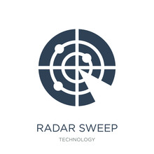 Radar Sweep Icon Vector On Whi...