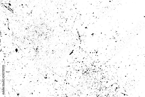 Black and white grunge urban texture vector with copy space Tableau sur Toile