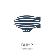 Blimp Icon Vector On White Bac...