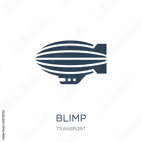 Photo blimp icon vector on white background, blimp trendy filled icons from Transport
