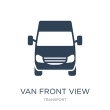 Van Front View Icon Vector On ...