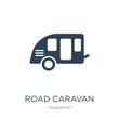 road caravan icon vector on white background, road caravan trendy filled icons from Transport collection, road caravan vector illustration