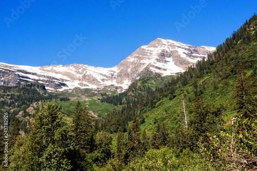 Fotografie, Obraz  Landscape of a Peak in Glacier National Park, Montana