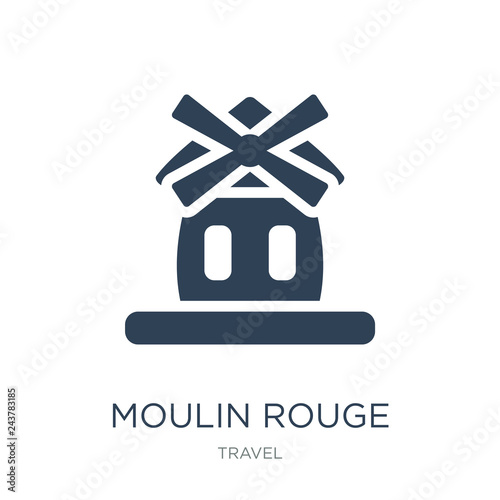 Photo  moulin rouge icon vector on white background, moulin rouge trendy filled icons f