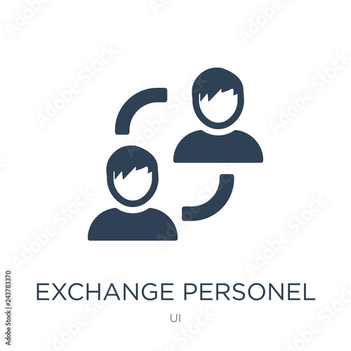 Fotografie, Obraz exchange personel icon vector on white background, exchange personel trendy fill